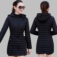 女士女中长款2019冬季韩版中年妈妈棉衣轻薄外套 L 码建议体重85-100斤
