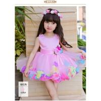 六一儿童演出服幼儿园小班表演服61舞蹈服装绿色时装秀 粉红色 90cm