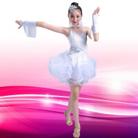 新款儿童拉丁舞演出服少儿女童比赛舞蹈服装蓬蓬裙表演服现代舞裙