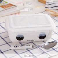 耐热陶瓷便当盒分格分隔饭盒学生保鲜碗饭盒带盖两格密封盒微波炉