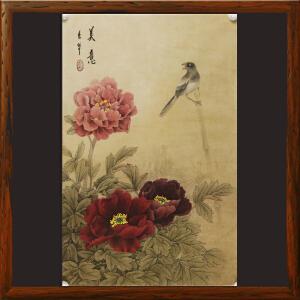 工笔国画《美意》张一娜 书画家协会一级美术师R1505