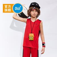 【开学季到手价:63.6】361度童装 男童套装儿童运动篮球套装休闲套装 2019年夏季新品套装N51921463
