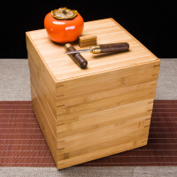 普洱茶盒分茶盘实木竹制抽屉式撬茶饼架专用工具茶具配件茶针茶刀
