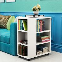 带轮收纳柜 创意小书架儿童书柜带轮收纳架落地置物架客厅沙发边几可移动