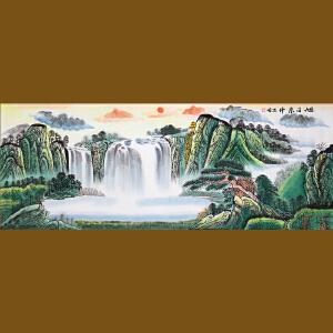1.8米《旭日东升》高忠明 中国书画院研究员 一级美术师R3887