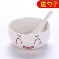 家用卡通陶瓷碗可爱米饭碗大碗汤碗泡面碗儿童大号日式餐具吃饭碗