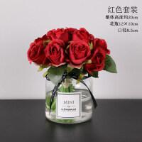 假花玫瑰花绢花仿真花客厅室内餐桌花瓶装饰干花花束摆件摆设花艺
