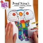 【中商海外直订】Brad King's Animal Coloring Book: Elephants
