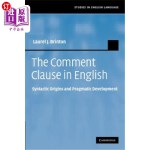 【中商海外直订】The Comment Clause in English: Syntactic Origins an
