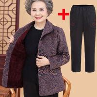 【单件/套装可选】奶奶装秋冬装外套中老年人女装60-70岁老人衣服