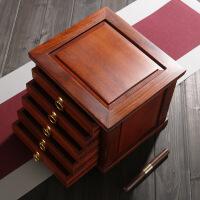 普洱茶盒实木抽屉式包装盒单饼分茶盘鸡翅茶饼储层茶盒收纳盒木制