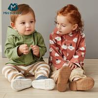 【2件4折】迷你巴拉巴拉婴儿外套男女宝宝连帽风衣秋新款纯棉可爱衣服