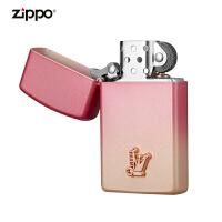 zippo芝��打火�C美��正版原�bZ-20013-0001粉�t女郎