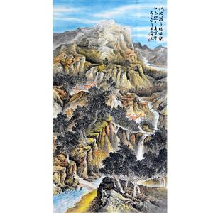 中国美协会员,中国书协会员,龙云书画院院长侯桂峰(山水古诗)5