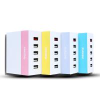 [礼品卡]Remax 明多口5usb充电器5v6A快速通用手机多功能旅行插头中欧规 包邮 Remax/睿量