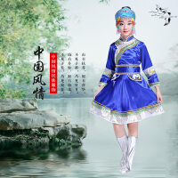少数民族服装儿童蒙古袍藏族舞蹈演出服男孩女孩新款