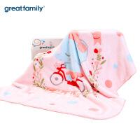 双层云毯婴儿毛毯冬季宝宝盖毯新生儿童毯子礼盒装乐友184