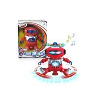 跨境儿童电动玩具360度特技跳舞机器人灯光音乐甩葱歌