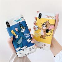 趣味经典卡通插画8plus苹果x猫和老鼠手机壳XS Max/XR/iPhoneX/7p/6s情侣iPhone11Pro套