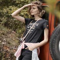 【顺心而行】诺诗兰新款女士轻量舒适透气快干短袖T恤GQ082A06