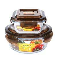 套装耐热玻璃保鲜盒微波炉饭盒冰箱收纳盒子上班带饭的碗