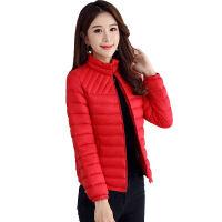 女2019棉衣女短款修身轻薄小棉袄韩版学生冬装外套潮 L 建议75-100斤