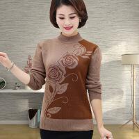 中年 秋天线衫半高领羊毛衫40-60岁妈妈装针织线衫羊绒打底衫毛衣 图片色
