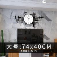 欧式钟表挂钟客厅个性创意时尚现代潮流时钟家用墙静音 20英寸以上