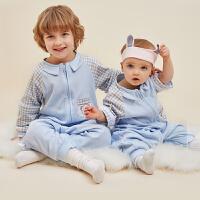 龙之婴儿童衣服睡袋宝宝防踢保暖睡袋儿童防踢四季通用分腿睡袋
