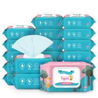 【5包】蓝漂 六只小虎亲肤湿纸巾  5包装 (80抽/包)