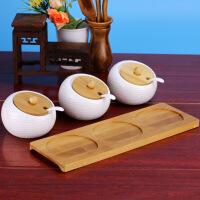 陶瓷调味料罐欧式创意厨房用品韩式盐罐味精瓶方型调盒日式 高尔夫调味罐