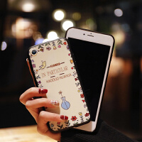 苹果7plus手机壳女款软硅胶iphone6s保护套韩国大气8x防摔玫瑰花防摔社会人抖音同款外壳情侣