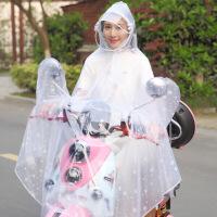 韩国时尚电动车摩托车电瓶车透明雨披单人男女抖音网红雨衣