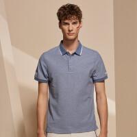 【品牌特惠】诺诗兰新款男士轻量透气舒适短袖翻领T恤GL085B11