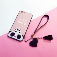 iphone6手机壳6s苹果7splus硬壳保护套6plus硅胶挂绳i7女款卡通