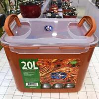 韩国原装泡菜盒真空密封压板 保鲜盒 辣白菜保管储存盒冷藏盒 20升 8~9颗 中等泡菜