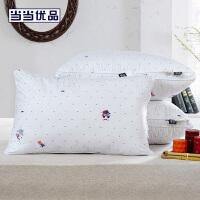 当当优品 低中高精梳棉立体羽丝绒枕头 高款1200g 48*74cm