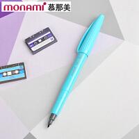韩国monami/慕娜美04031-15 PLUS PEN 天蓝色水性笔勾线笔纤维笔绘图笔彩色中性笔签字笔书法美术绘画