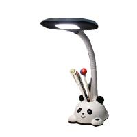 小学生写作业护眼台灯 充电护眼灯 可爱儿童卧室看书学习写作业女孩学生书桌台灯 BX 熊猫(充电+插电) 按钮开关