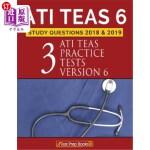 【中商海外直订】Ati Teas 6 Study Questions 2018 & 2019: Three Ati T
