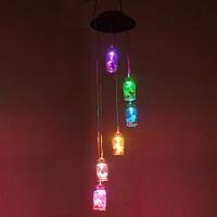 风铃户外防水太阳能灯七彩礼品灯创意庭院花园装饰风铃挂饰小夜灯