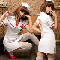 性感角色扮演情趣内衣女护士制服夜店诱惑睡衣挑逗激情套装 白色 均码