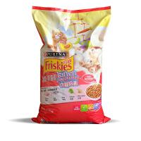 冠能喜跃(Friskies)宠优宠物全价成猫幼猫猫粮 幼猫鸡肉鱼肉牛奶菠菜味10kg