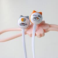猫咪老师入耳式耳机 通用女生萌萌可爱卡通创意迷你学生耳机