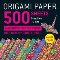 "【预订】Origami Paper 500 Sheets Kaleidoscope Patterns 6"" (15 C"