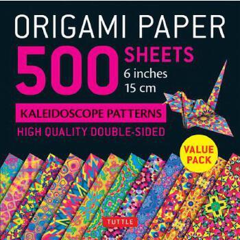 "【预订】Origami Paper 500 Sheets Kaleidoscope Patterns 6"" (15 CM): Tuttle Origami Paper: High-Quality Origami Sheets Printed with 12 Different Designs: Instru 预订商品,需要1-3个月发货,非质量问题不接受退换货。"