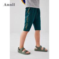 【3件3折】安奈儿男童短裤2020新款儿童夏季运动裤外穿薄款裤子男孩休闲中裤5