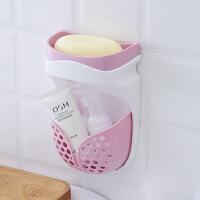 壁挂肥皂架肥皂盒浴室双层吸盘免打孔创意卫生间沥水香皂盒置物架