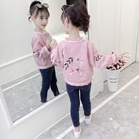 女童秋装外套2018新款儿童春秋夹克韩版上衣女孩外衣洋气时髦潮衣