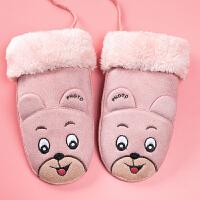 宝宝手套秋冬款女童保暖儿童手套连指小孩中大童可爱手套